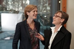Judith Kelley with Samantha Power