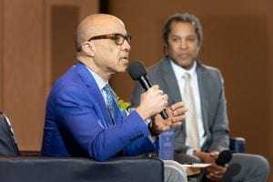 Darren Walker speaking on stage