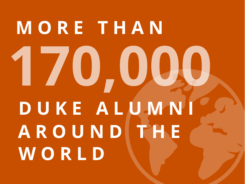 More than 170,000 Duke Alumni Around the world